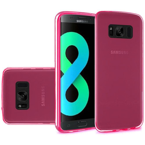 Insten TPU Clear Cover Case For Samsung Galaxy S8 Plus, Hot Pink