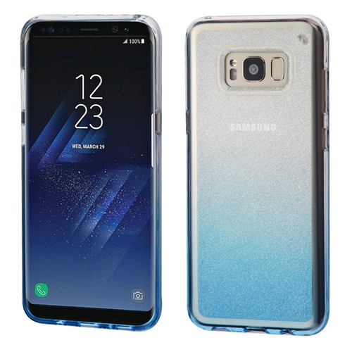 Insten Gradient Glitter TPU Transparent Case For Samsung Galaxy S8, Blue