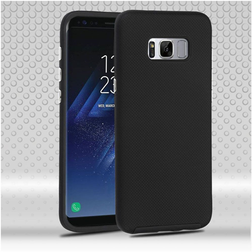 Insten Dotted Hard Dual Layer TPU Cover Case For Samsung Galaxy S8, Black