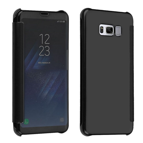 Insten Fitted Hard Shell Case for Samsung Galaxy S8 - Chrome;Black