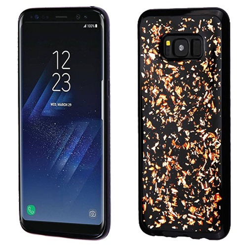 Insten Flakes Rubber Case For Samsung Galaxy S8 Plus, Rose Gold/Black