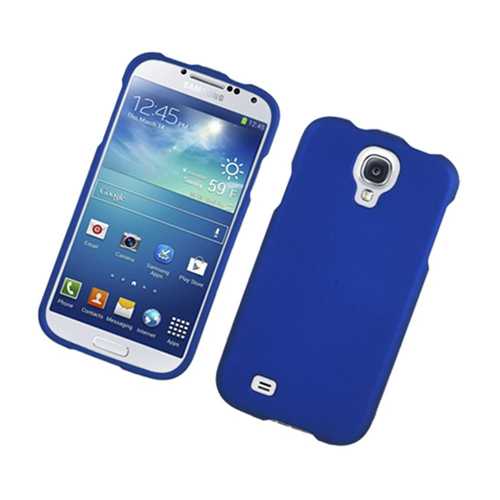 Insten Hard Rubberized Cover Case For Samsung Galaxy S4, Blue
