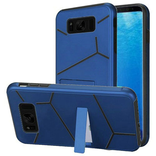 Insten Hard Hybrid Plastic TPU Cover Case w/stand For Samsung Galaxy S8, Blue/Black
