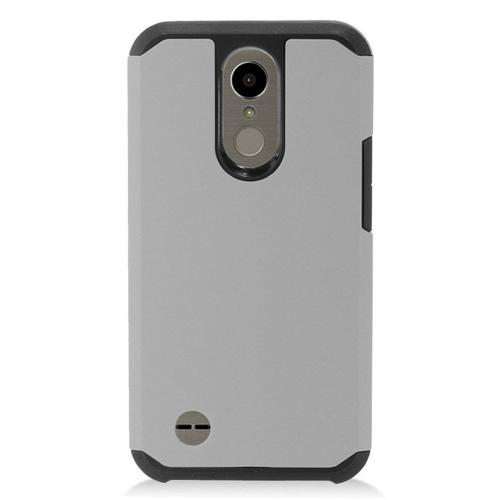 Insten Hard TPU Cover Case For LG Harmony/K10 (2017)/K20 Plus/K20 V, Gray/Black