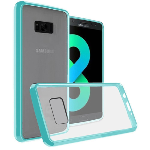 Insten Hard Crystal TPU Cover Case For Samsung Galaxy S8 Plus, Clear/Teal