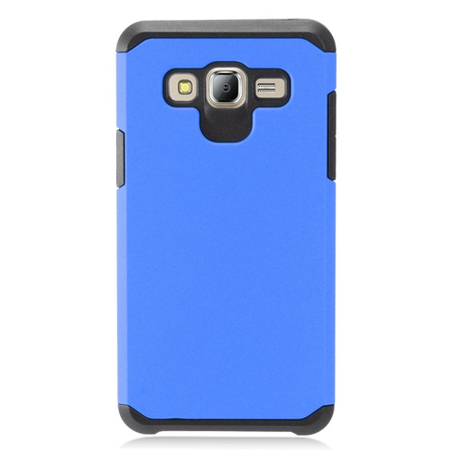 Insten Hard Hybrid TPU Case For Samsung Galaxy On5, Blue/Black