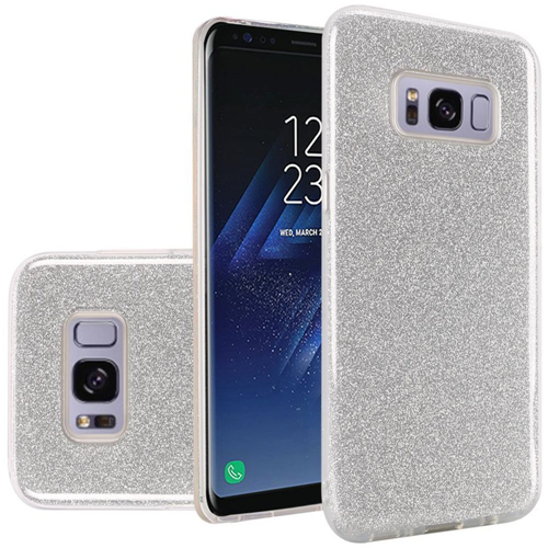 Insten Hard Glitter TPU Cover Case For Samsung Galaxy S8 Plus, Silver