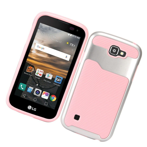 Insten Slim Hard TPU Cover Case For LG K3 (2016), Pink/Silver