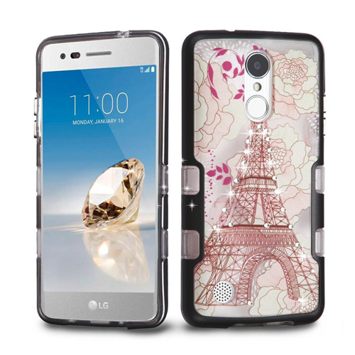 Insten Eiffel Tower Hard Case For LG Aristo/Fortune/K4 (2017)/K8 (2017)/LV3/Phoenix 3, Multi-Color