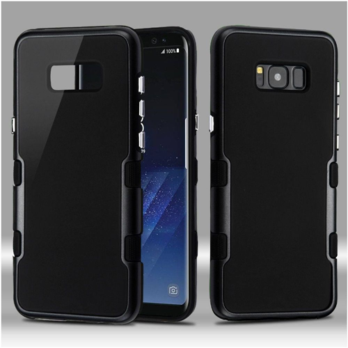 Insten Tuff Hard Hybrid Metallic TPU Case For Samsung Galaxy S8 Plus, Black