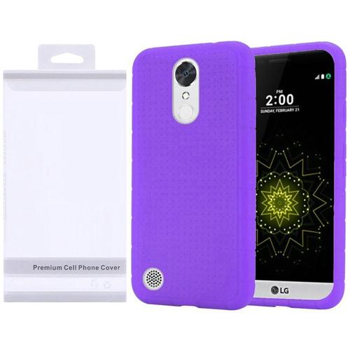 Insten Skin Rubber Cover Case For LG Grace 4G/Harmony/K20 Plus/K20 V, Purple
