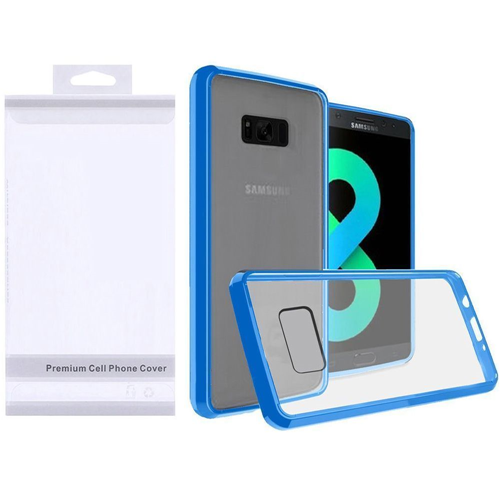 Insten Fitted Soft Shell Case for Samsung Galaxy S8 Plus - Clear;Blue