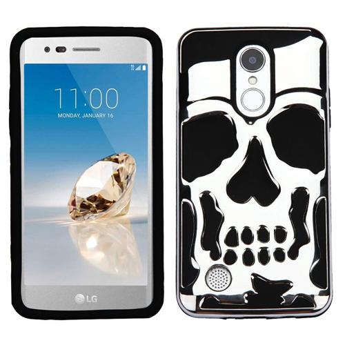 Insten Skullcap Hard Hybrid Case For LG Fortune/K4 (2017)/K8 (2017)/LV3/Phoenix 3, Silver/Black