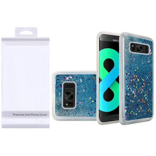 Insten Quicksand Hard Glitter TPU Cover Case For Samsung Galaxy S8 Plus, Blue