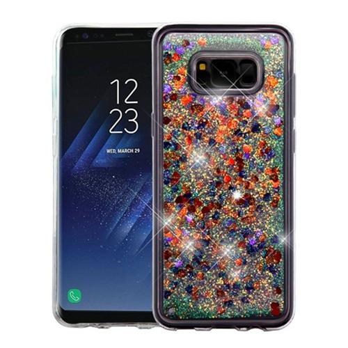 Insten Quicksand Hearts Hard Plastic TPU Cover Case For Samsung Galaxy S8, Multi-Color