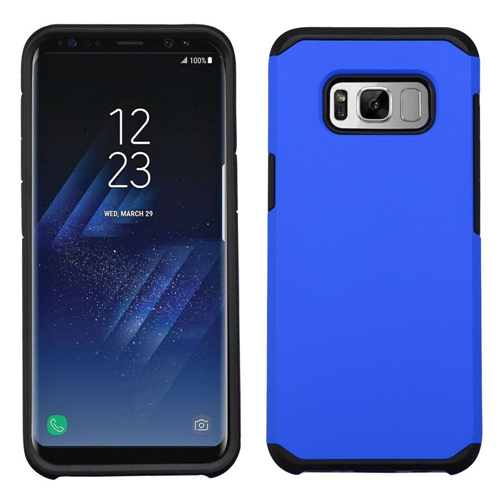 Insten Hard Hybrid Plastic TPU Case For Samsung Galaxy S8 Plus, Blue/Black