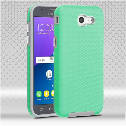 Insten Dotted Hard TPU Case For Samsung Galaxy Amp Prime 2/Express Prime 2/J3 (2017)/J3 Emerge, Teal