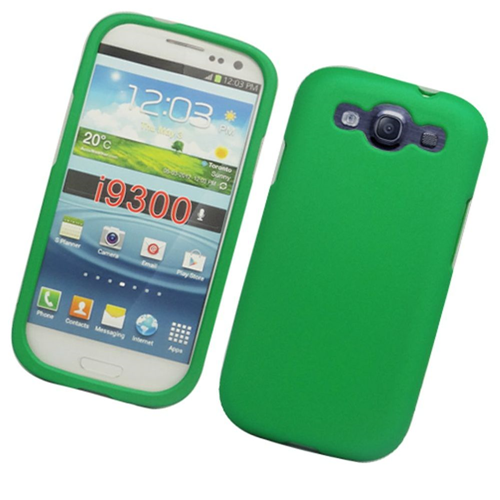 Insten Hard Rubberized Case For Samsung Galaxy S3, Green