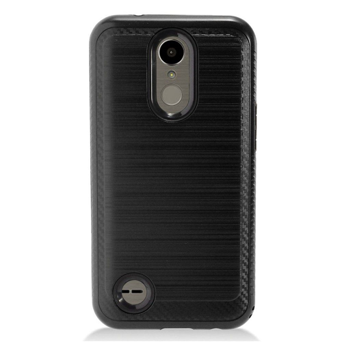 Insten Chrome Brushed Hard Case For LG K10 (2017)/K20 Plus/K20 V, Black