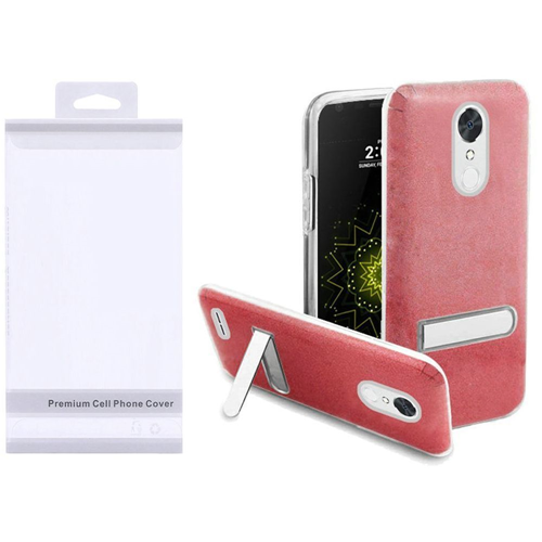 Insten Hard Plastic TPU Cover Case w/stand For LG Grace 4G/Harmony/K20 Plus/K20 V, Red/Clear