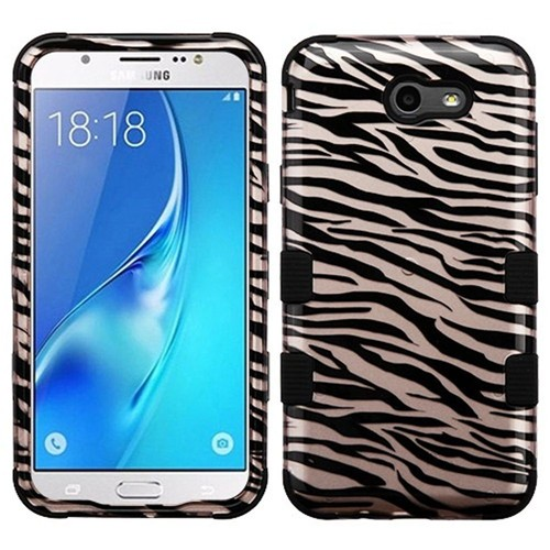 Insten Zebra Hard Hybrid Case For Samsung Galaxy J7 (2017)/J7 Perx/J7 Sky Pro/J7 V, Rose Gold/Black