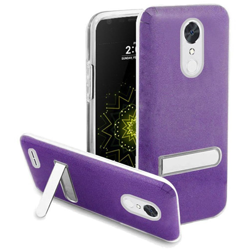 Insten Hard Plastic TPU Cover Case w/stand For LG Grace 4G/Harmony/K20 Plus/K20 V, Purple/Clear