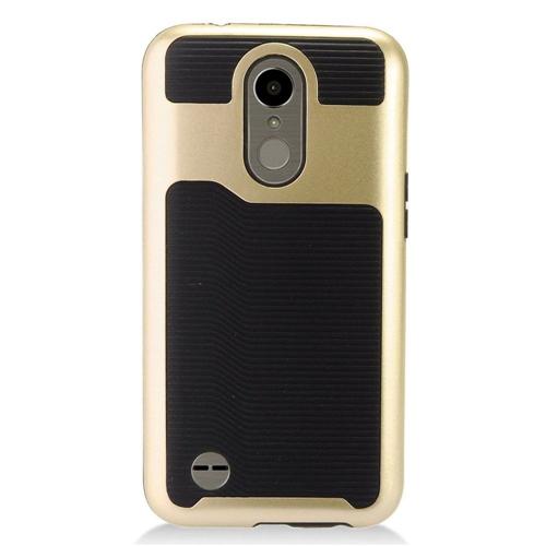 Insten Slim Hard TPU Case For LG Harmony/K10 (2017)/K20 Plus/K20 V, Gold/Black