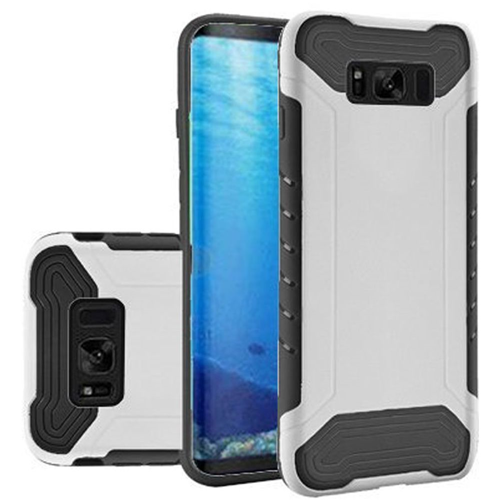 Insten Slim Armor Hard Dual Layer Plastic TPU Case For Samsung Galaxy S8, White/Black
