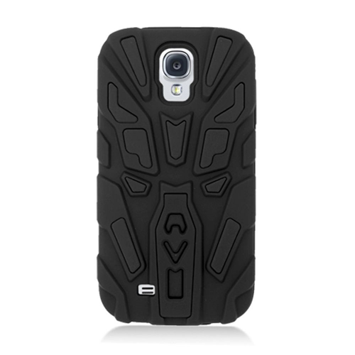 Insten Rubber Dual Layer Case w/stand For Samsung Galaxy S4, Black