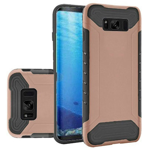 Insten Slim Armor Hard Dual Layer Plastic TPU Cover Case For Samsung Galaxy S8, Gold/Black
