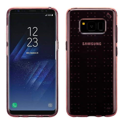 Insten Rubber Transparent Case For Samsung Galaxy S8 Plus, Rose Gold