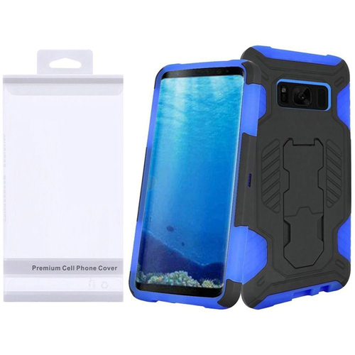 Insten Fitted Hard Shell Case for Samsung Galaxy S8 - Black;Blue