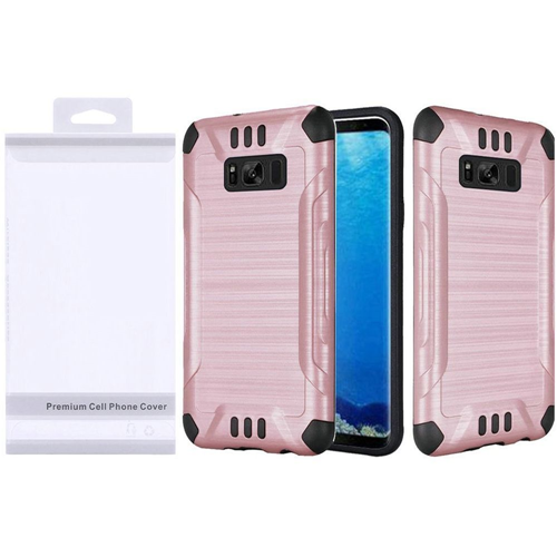 Insten Fitted Soft Shell Case for Samsung Galaxy S8 - Black;Rose Gold