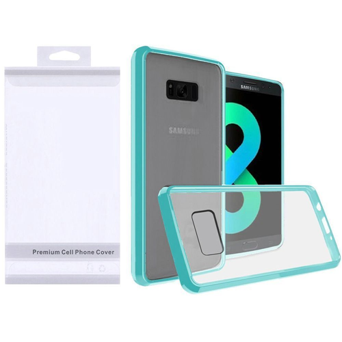 Insten Hard Plastic TPU Cover Case For Samsung Galaxy S8 Plus, Clear/Teal