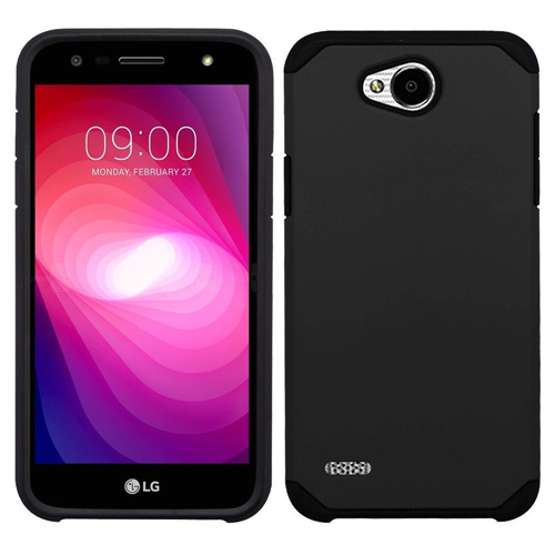 Insten Hard Dual Layer TPU Cover Case For LG X Power 2, Black