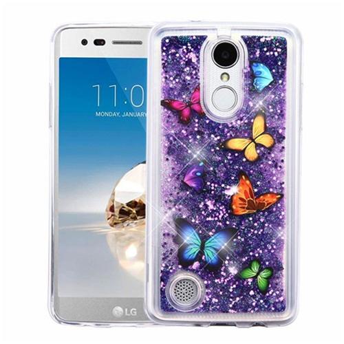 Insten Quicksand Butterfly Hard Case For LG Aristo/Fortune/K4 (2017)/K8 (2017)/LV3/Phoenix 3, Purple