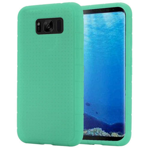 Insten Rugged Skin Rubber Case For Samsung Galaxy S8, Teal