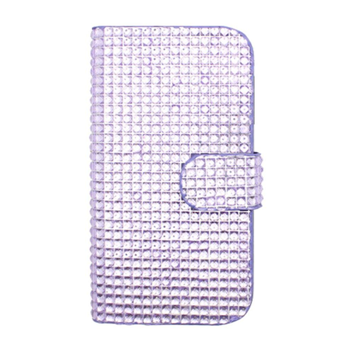 Insten Flip Leather Fabric Cover Case w/card slot For Samsung Galaxy S4, Purple
