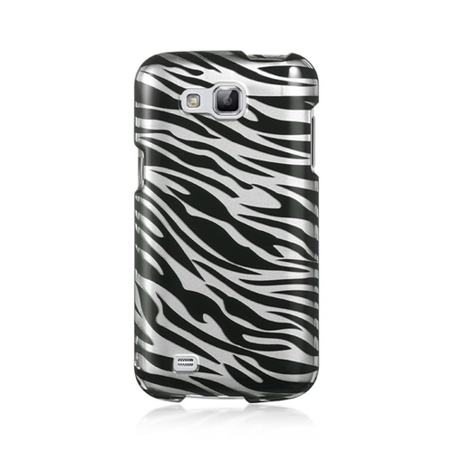 Insten Zebra Hard Plastic Case For Samsung Galaxy Premier, Black/Silver