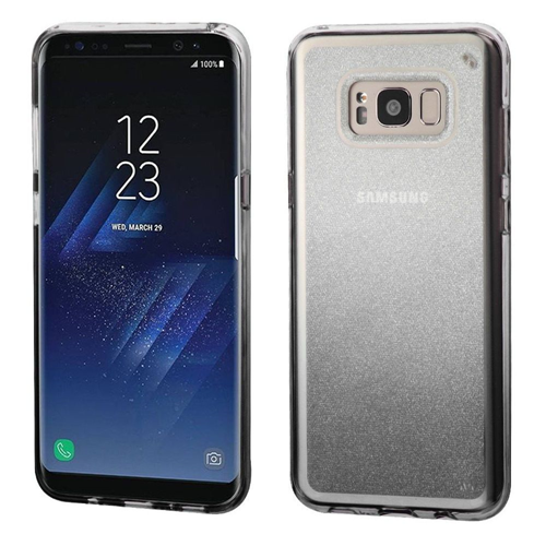 Insten Gradient Glitter Rubber Transparent Case For Samsung Galaxy S8, Black
