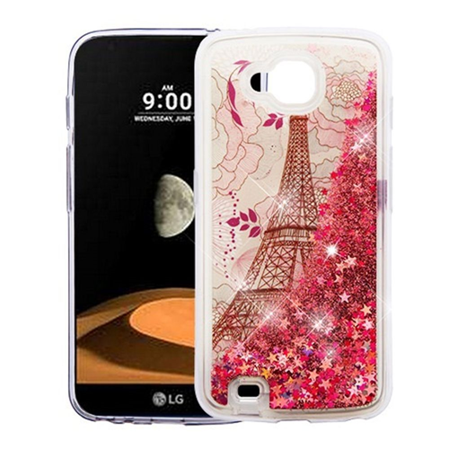Insten Quicksand Eiffel Tower Hard Plastic TPU Case For LG V9/X Venture, Rose Gold