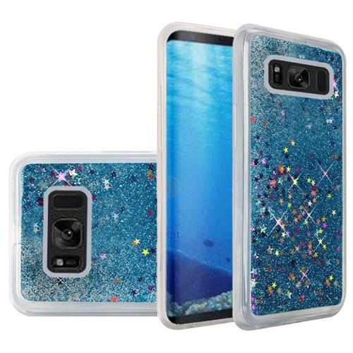 Insten Quicksand Hard Glitter Case For Samsung Galaxy S8, Blue