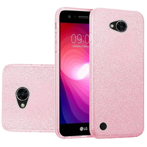 Insten Hard Glitter TPU Case For LG Fiesta LTE/K10 Power/X Charge/X Power 2, Pink