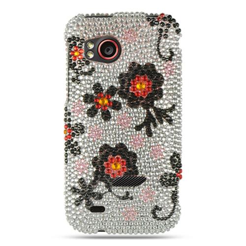 Insten Daisy Hard Diamond Case For HTC Rezound / Vigor, Multi-Color