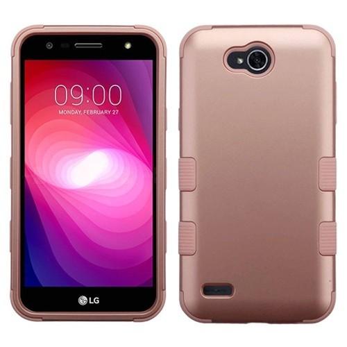 Insten Tuff Hard Hybrid Plastic TPU Case For LG X Power 2, Rose Gold