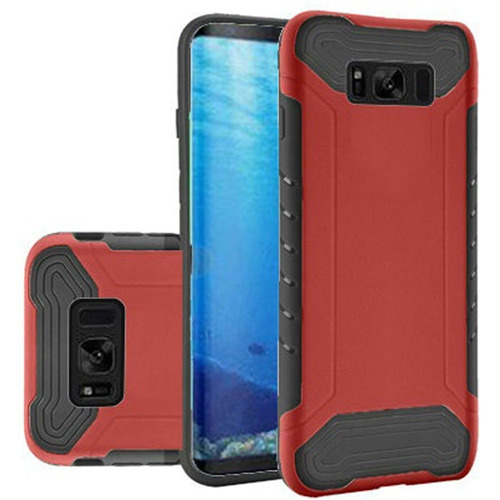 Insten Slim Armor Hard Dual Layer Plastic TPU Case For Samsung Galaxy S8, Red/Black
