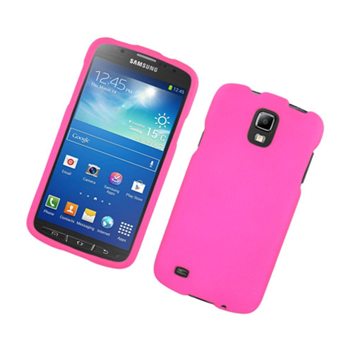 Insten Hard Rubber Cover Case For Samsung Galaxy S4 Active, Hot Pink