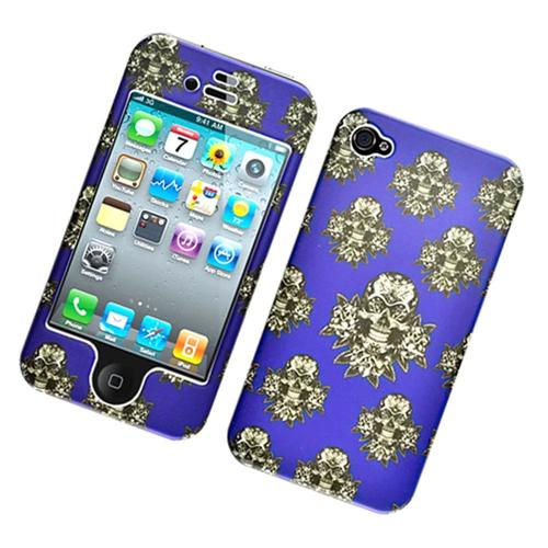 Insten Skull Hard Plastic Cover Case For Apple iPhone 4/4S, Multi-Color