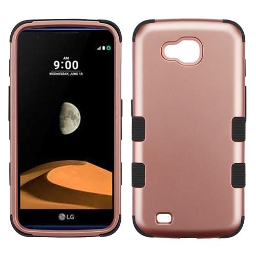 Insten Tuff Hard Hybrid Plastic TPU Cover Case For LG V9/X Venture, Rose Gold/Black