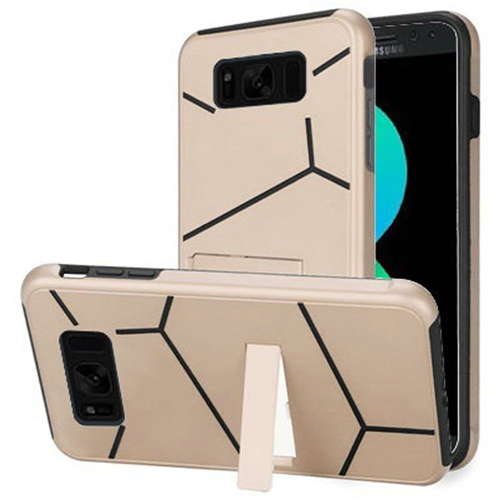 Insten Hard Hybrid Plastic TPU Case w/stand For Samsung Galaxy S8 Plus, Gold/Black
